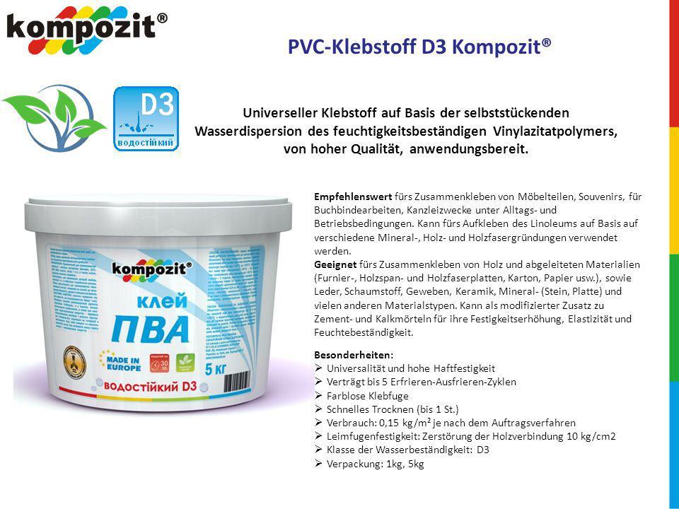 PVC-Klebstoff D3 Kompozit®
