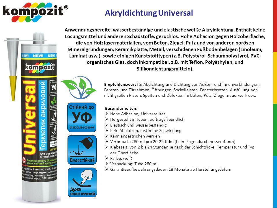 Akryldichtung Universal