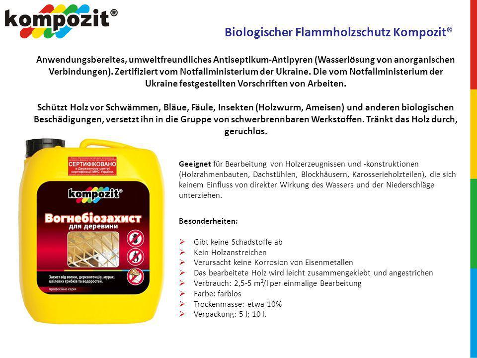 Biologischer Flammholzschutz Kompozit®