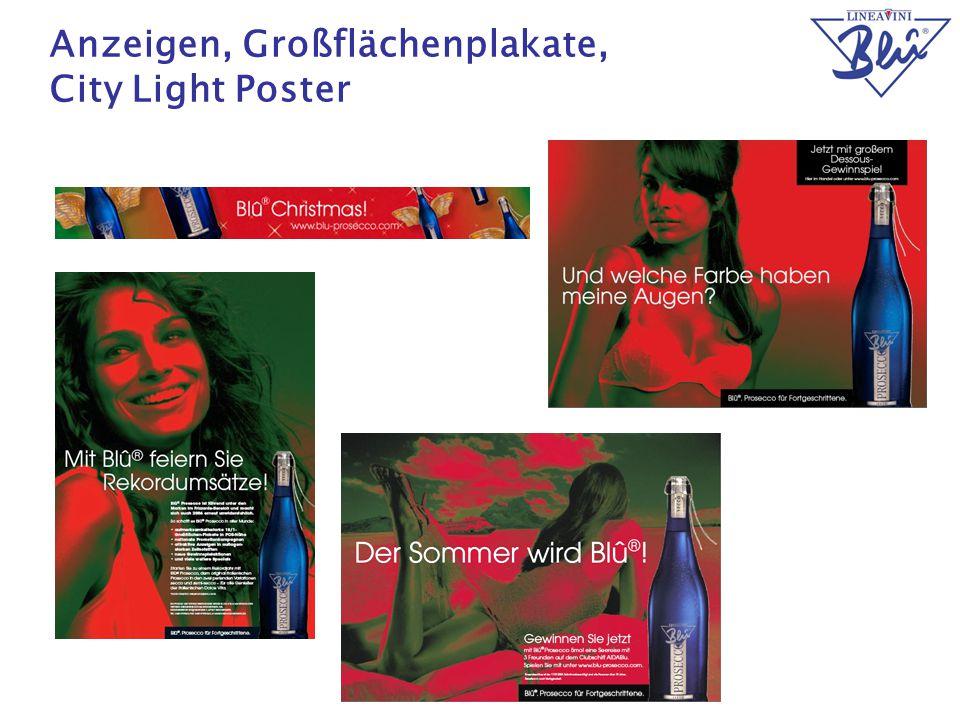 Anzeigen, Großflächenplakate, City Light Poster