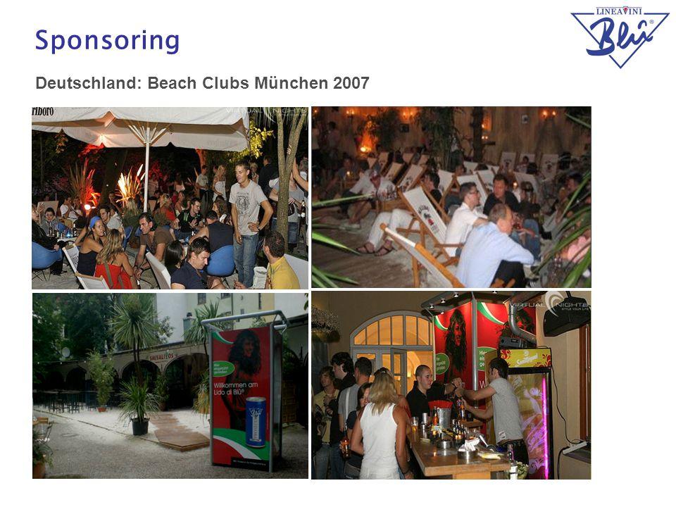 Sponsoring Deutschland: Beach Clubs München 2007