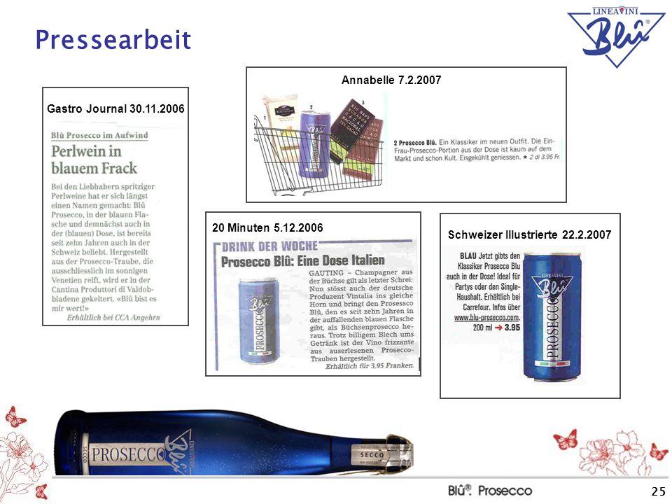 Pressearbeit Annabelle 7.2.2007 Gastro Journal 30.11.2006