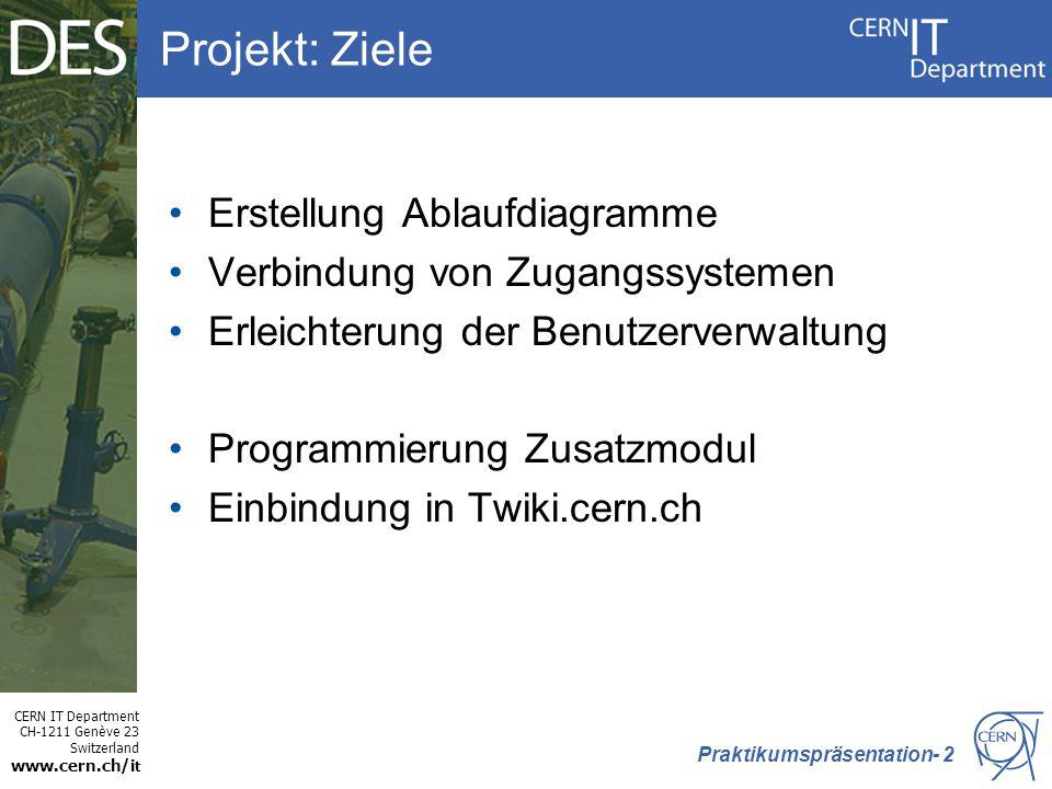 Projekt: Ziele Erstellung Ablaufdiagramme