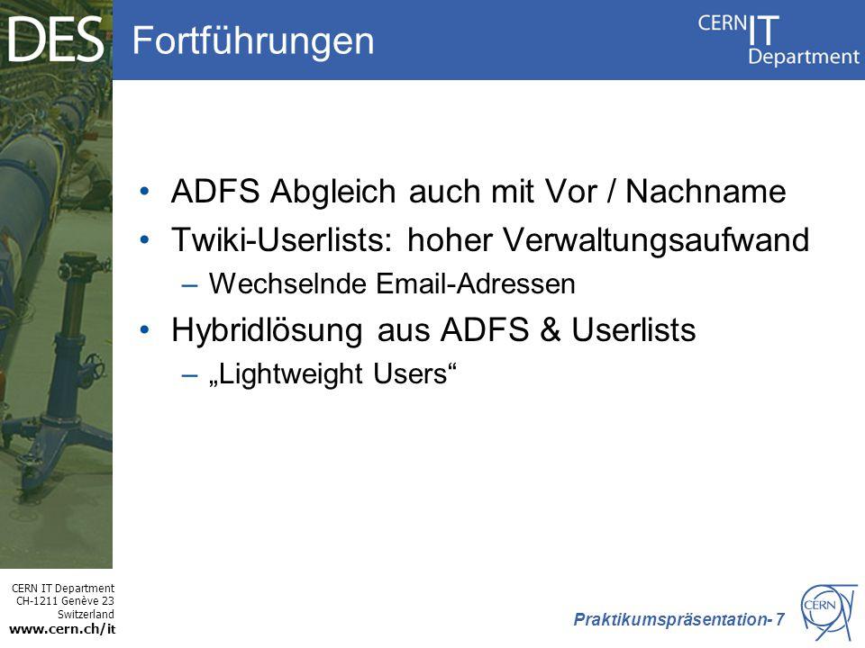 Fortführungen ADFS Abgleich auch mit Vor / Nachname