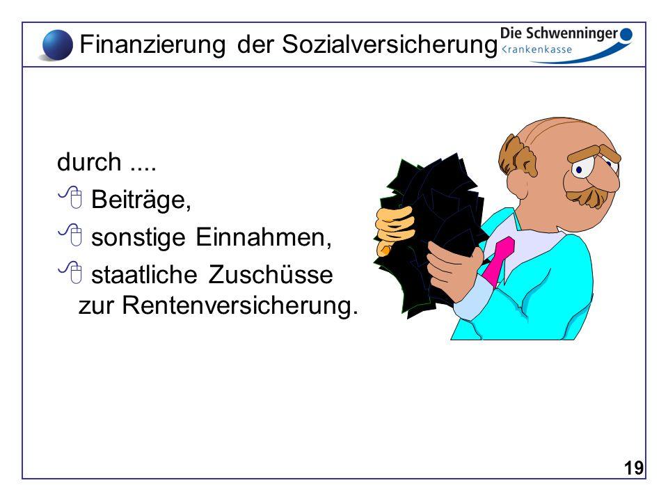 Finanzierung der Sozialversicherung