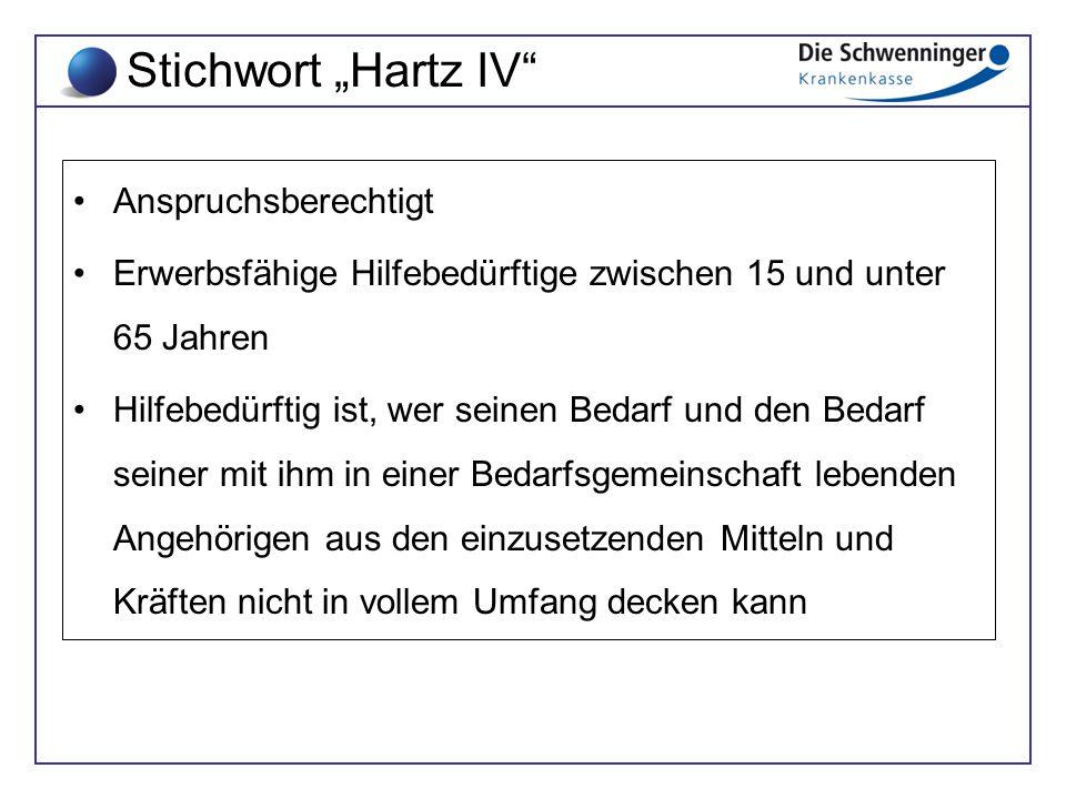 """Stichwort """"Hartz IV Anspruchsberechtigt"""