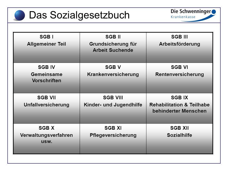 Das Sozialgesetzbuch SGB I Allgemeiner Teil SGB II