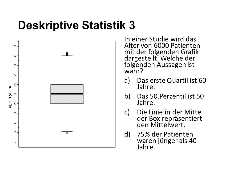 Deskriptive Statistik 3