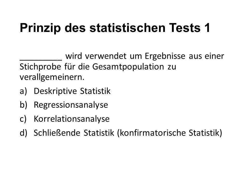 Prinzip des statistischen Tests 1