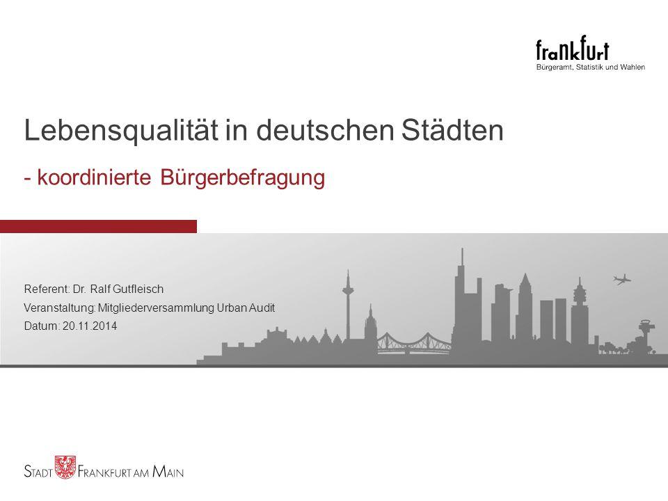 Lebensqualität in deutschen Städten