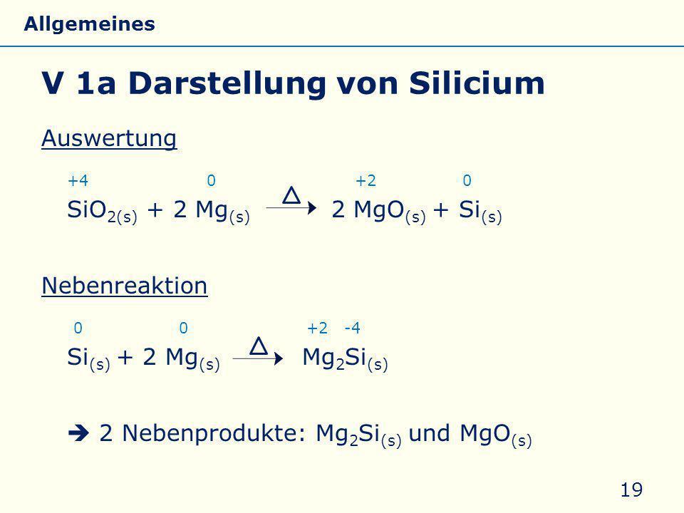 V 1a Darstellung von Silicium