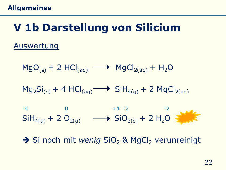 V 1b Darstellung von Silicium