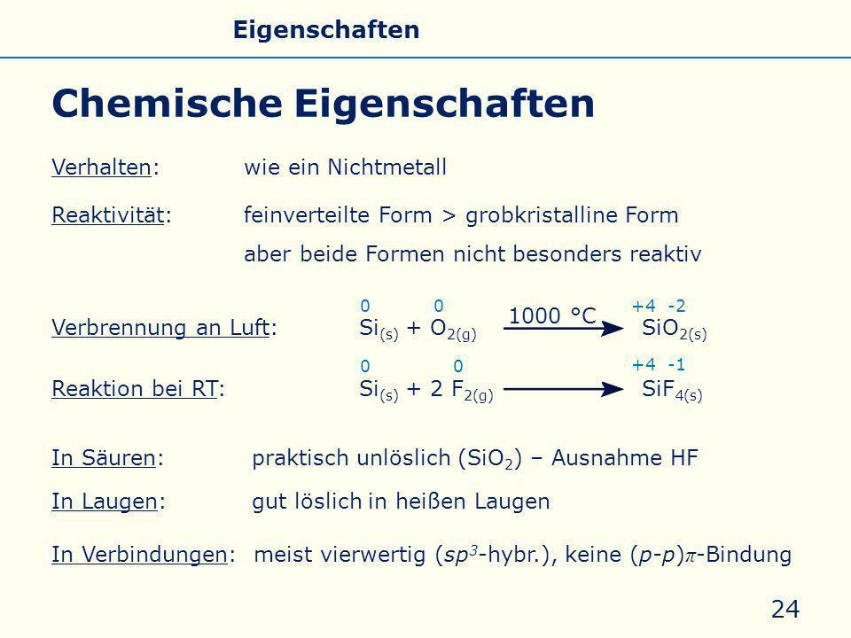 Chemische Eigenschaften