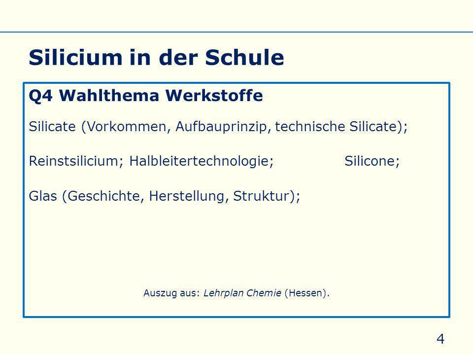 Auszug aus: Lehrplan Chemie (Hessen).