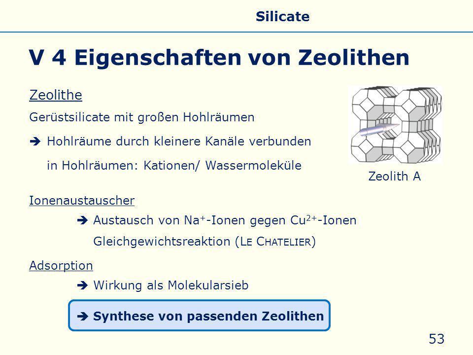 V 4 Eigenschaften von Zeolithen