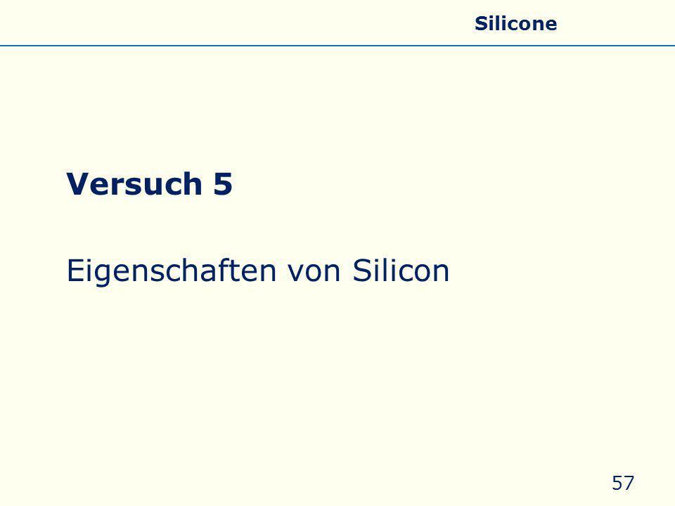 Eigenschaften von Silicon