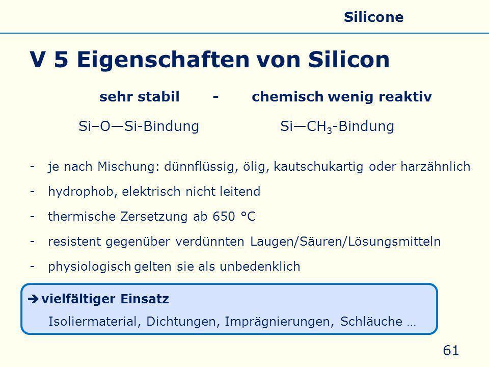 V 5 Eigenschaften von Silicon