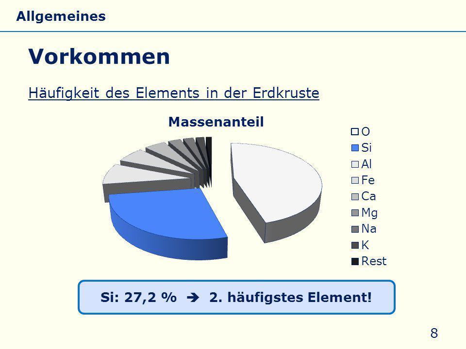Si: 27,2 %  2. häufigstes Element!