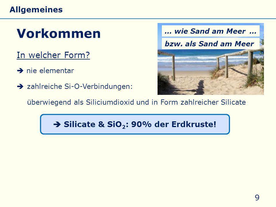  Silicate & SiO2: 90% der Erdkruste!