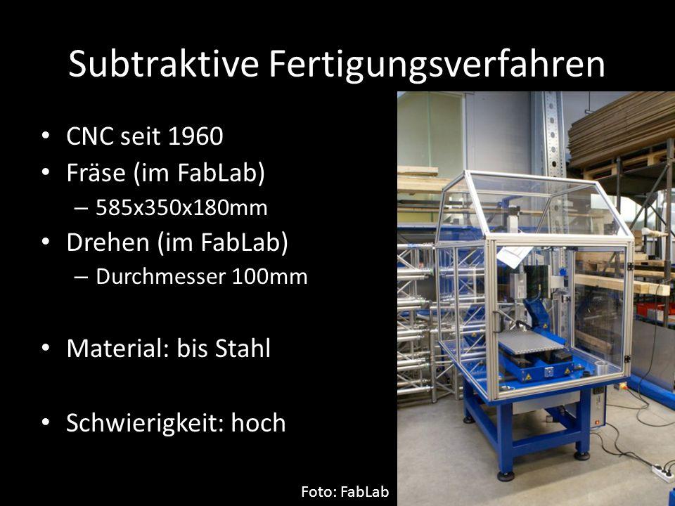 Subtraktive Fertigungsverfahren