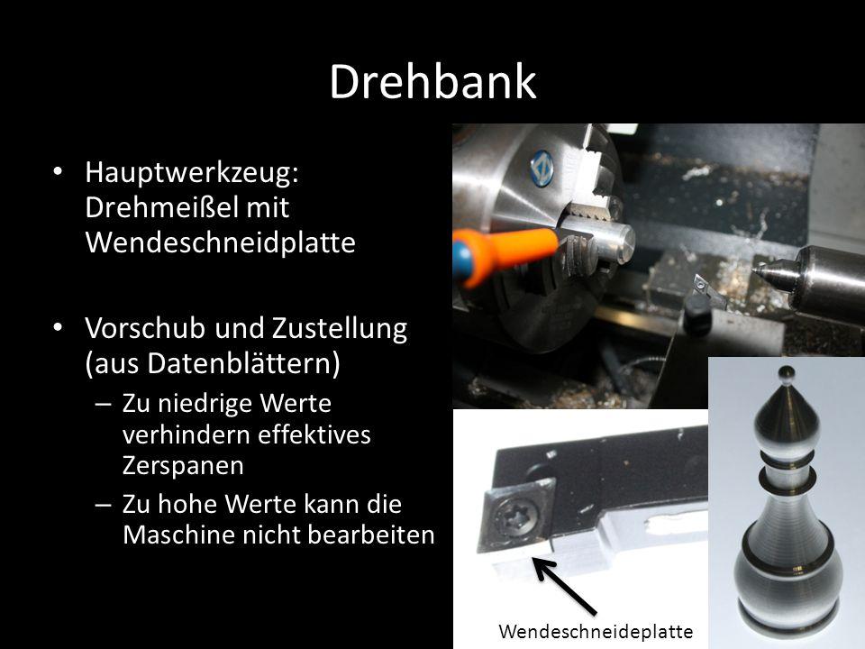 Drehbank Hauptwerkzeug: Drehmeißel mit Wendeschneidplatte