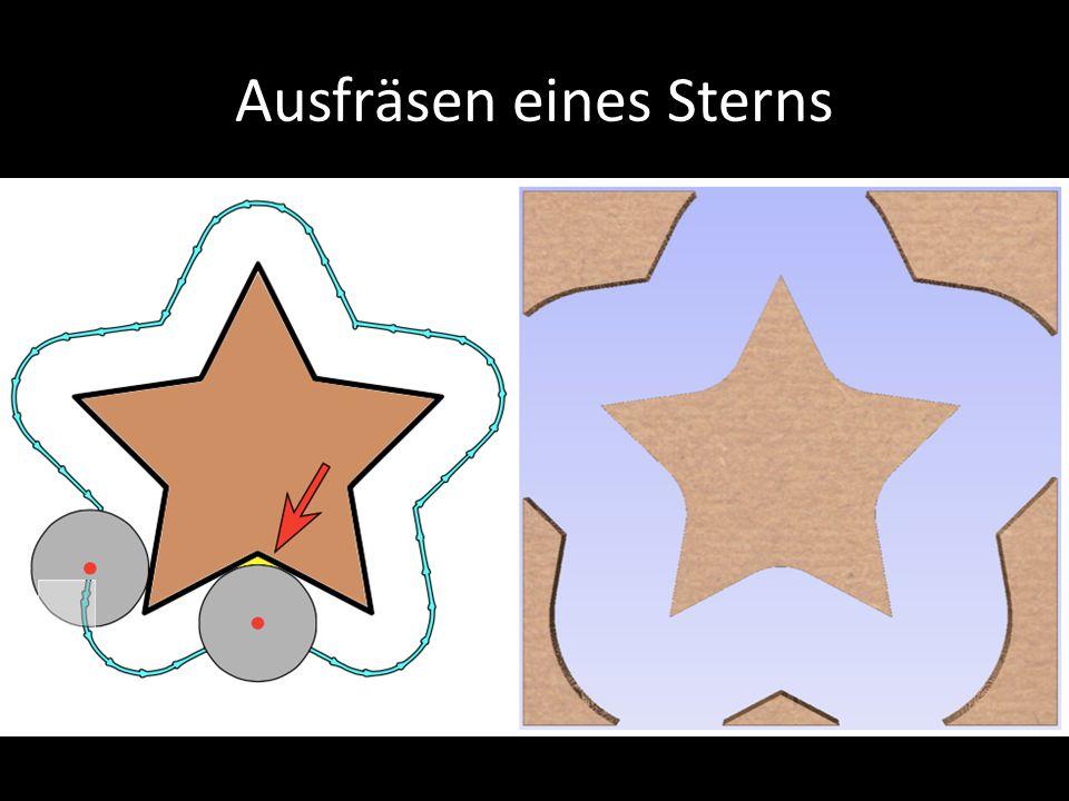 Ausfräsen eines Sterns