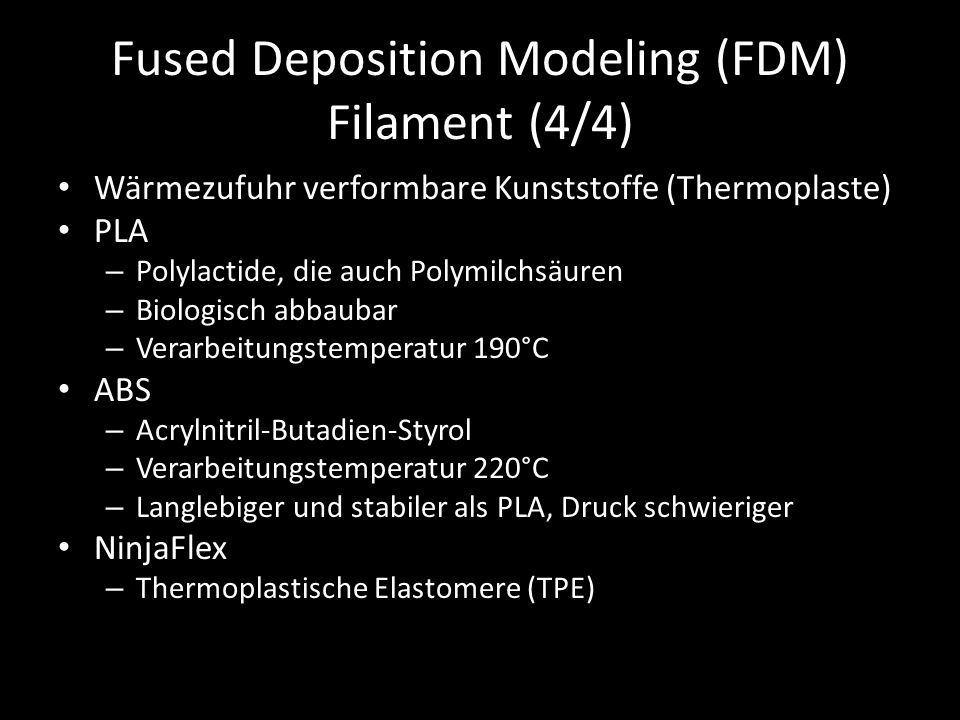 Fused Deposition Modeling (FDM) Filament (4/4)
