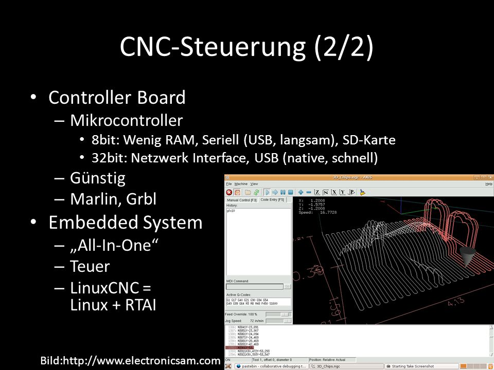 CNC-Steuerung (2/2) Controller Board Embedded System Mikrocontroller