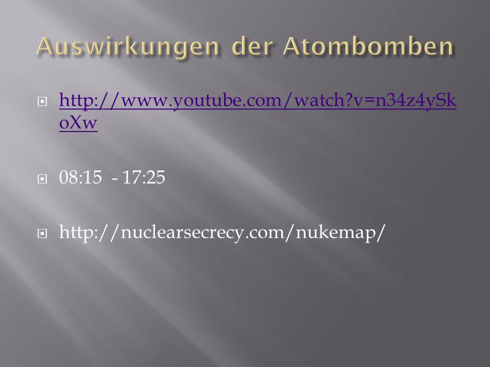 Auswirkungen der Atombomben