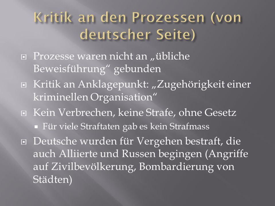 Kritik an den Prozessen (von deutscher Seite)