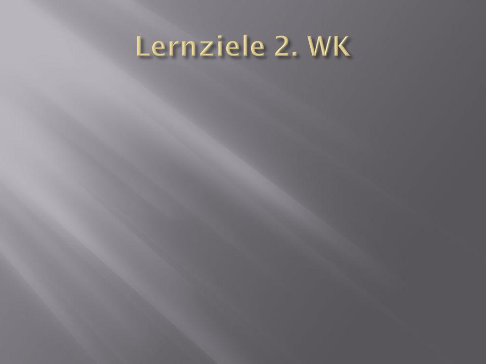 Lernziele 2. WK