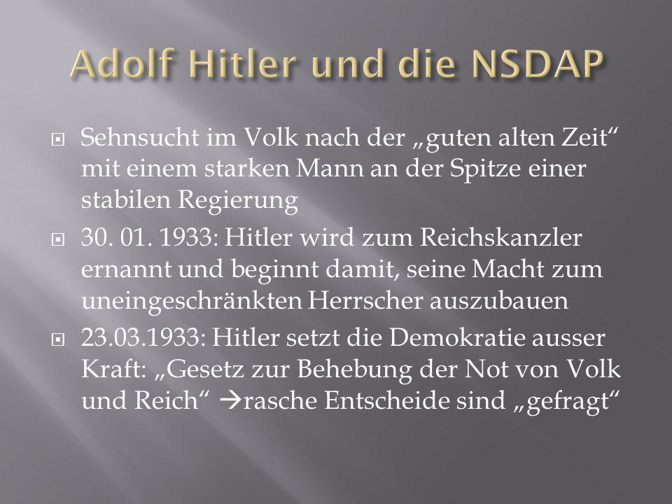 Adolf Hitler und die NSDAP