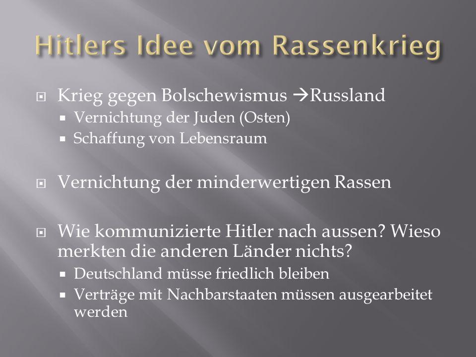 Hitlers Idee vom Rassenkrieg