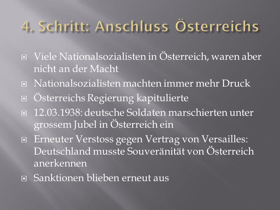 4. Schritt: Anschluss Österreichs