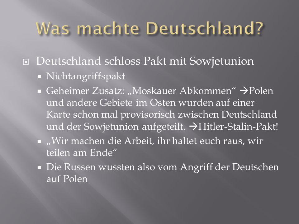 Was machte Deutschland