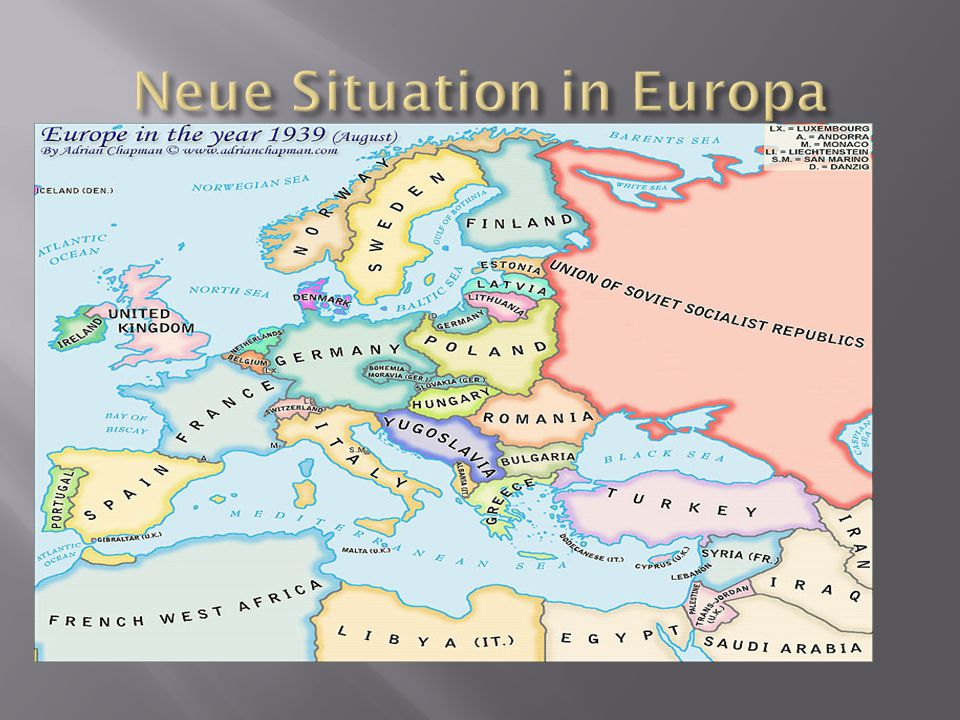Neue Situation in Europa