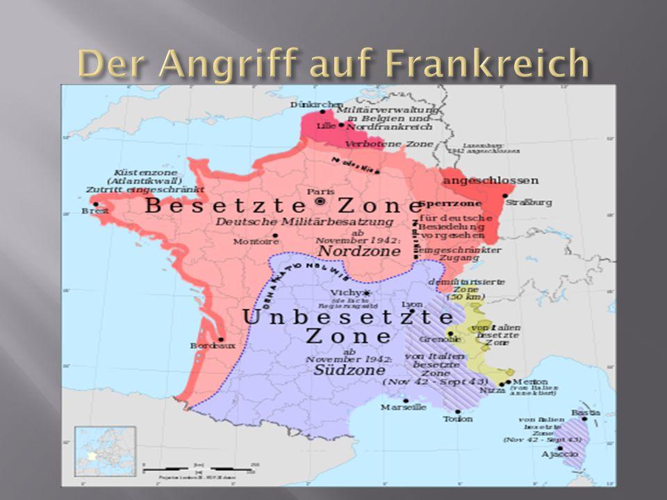 Der Angriff auf Frankreich
