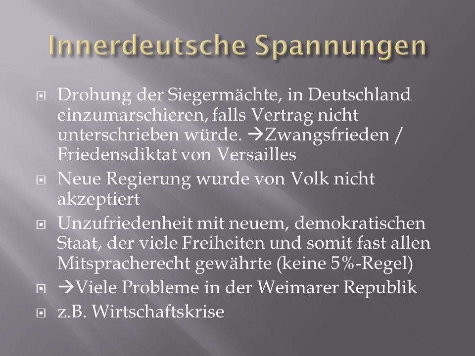 Innerdeutsche Spannungen