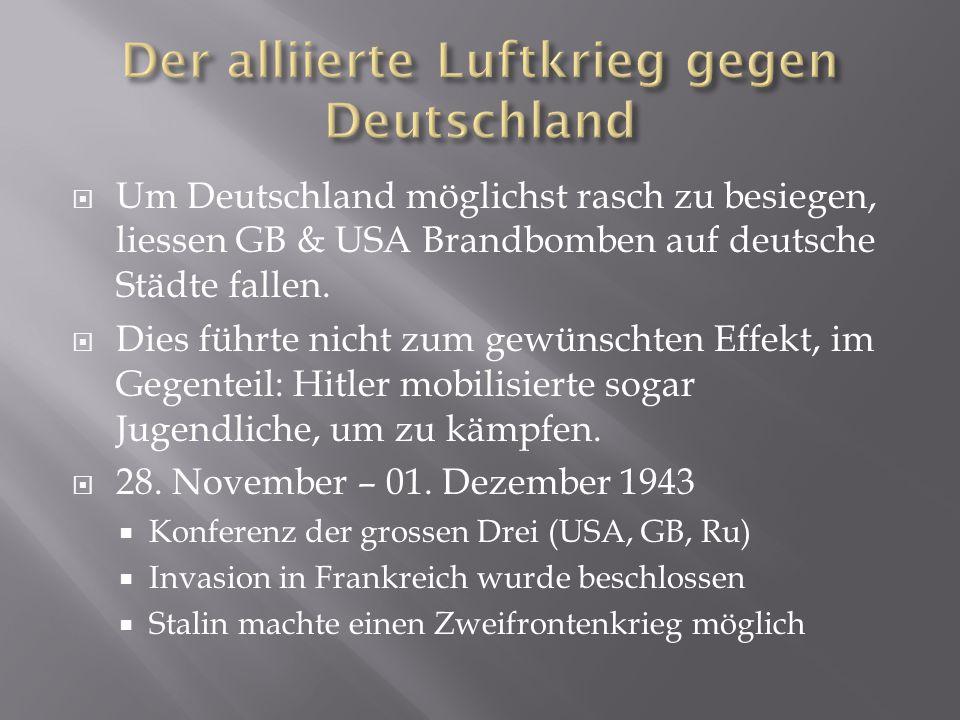 Der alliierte Luftkrieg gegen Deutschland