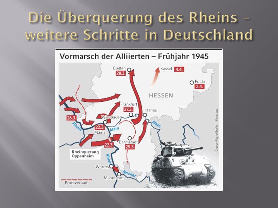 Die Überquerung des Rheins – weitere Schritte in Deutschland