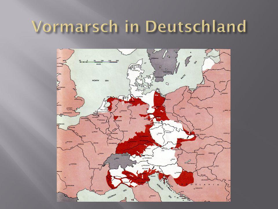 Vormarsch in Deutschland