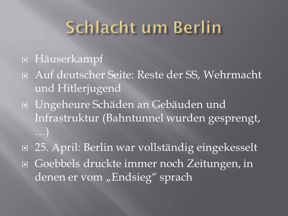 Schlacht um Berlin Häuserkampf