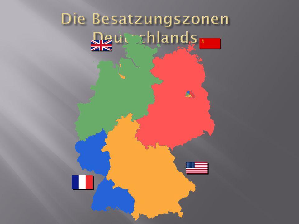Die Besatzungszonen Deutschlands