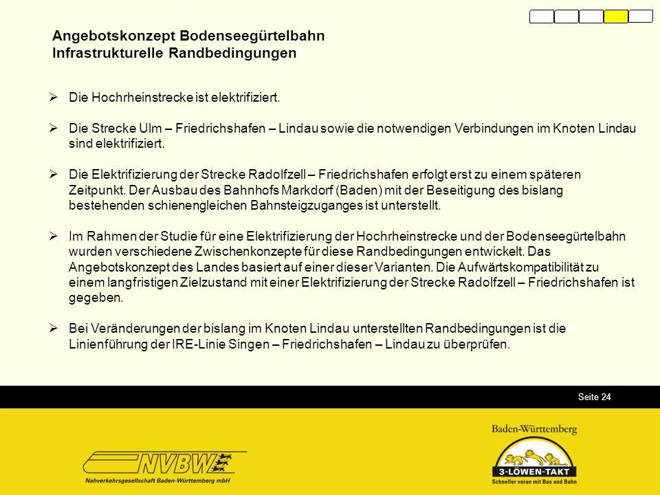 Angebotskonzept Bodenseegürtelbahn Infrastrukturelle Randbedingungen
