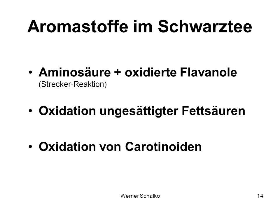 Aromastoffe im Schwarztee