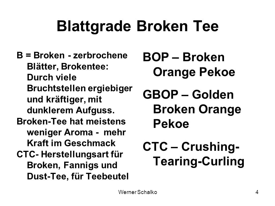 Blattgrade Broken Tee BOP – Broken Orange Pekoe