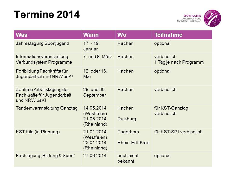 Termine 2014 Was Wann Wo Teilnahme Jahrestagung Sportjugend