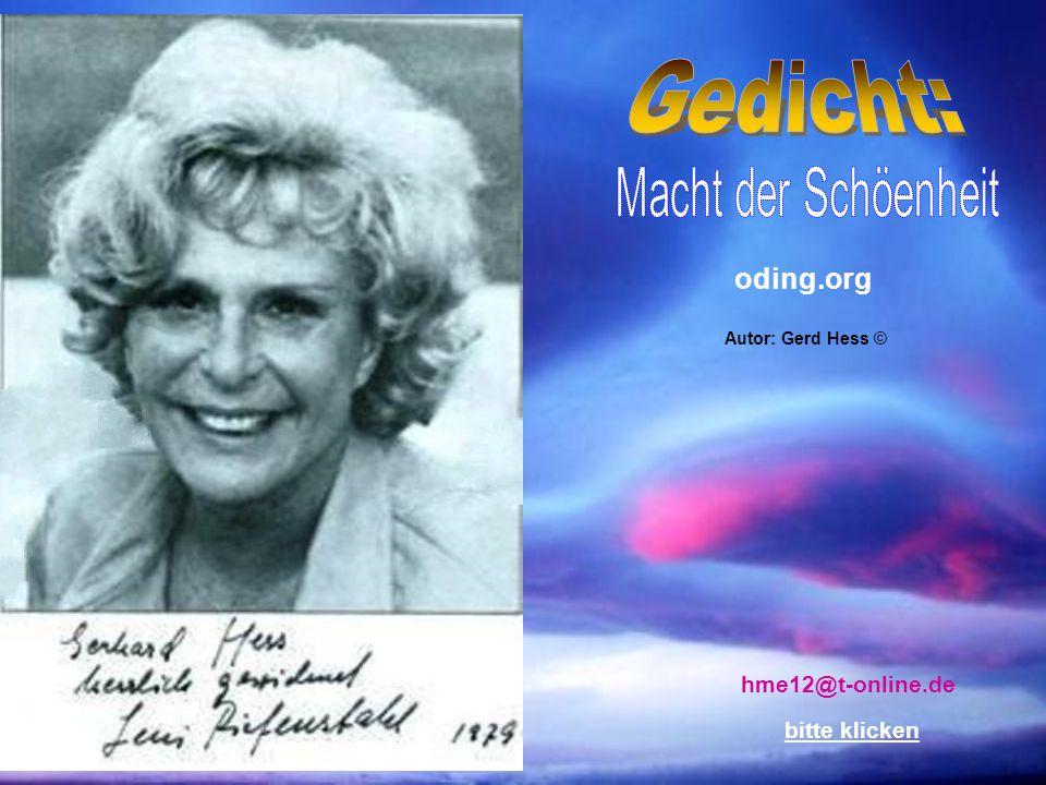 Gedicht: Macht der Schöenheit oding.org hme12@t-online.de