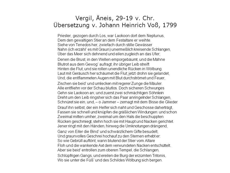 Vergil, Äneis, 29-19 v. Chr. Übersetzung v. Johann Heinrich Voß, 1799