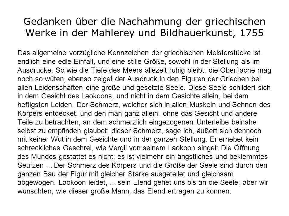 Gedanken über die Nachahmung der griechischen Werke in der Mahlerey und Bildhauerkunst, 1755